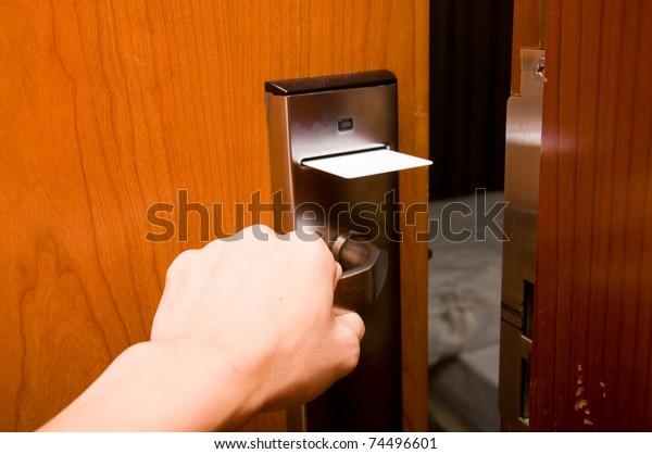 Open keycard door