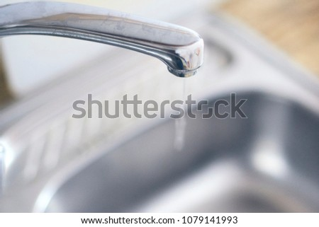 How To Open Kitchen Faucet | Open Kitchen Faucet Water Coming Out Stock Photo Edit Now
