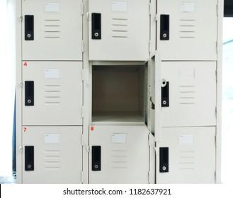 open Locker in the room