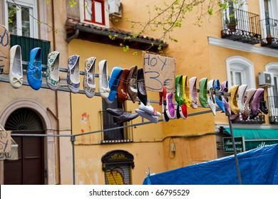open market of rastro in Madrid