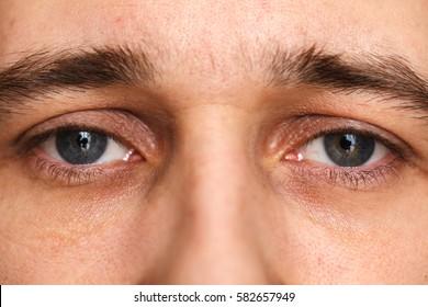 open men's eyes. Macro shooting