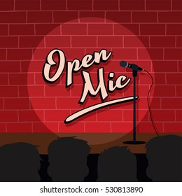 open mic live show stand up comedy cartoon