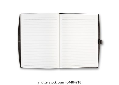 Open Notebook on white background isolate