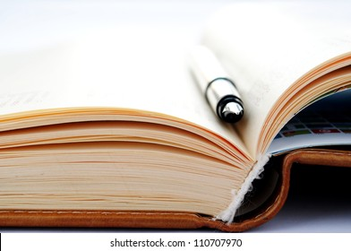 open notebook and pen for writing