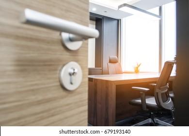 Open the office door