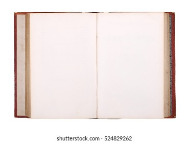 open old book isolated on white background, with clipping path