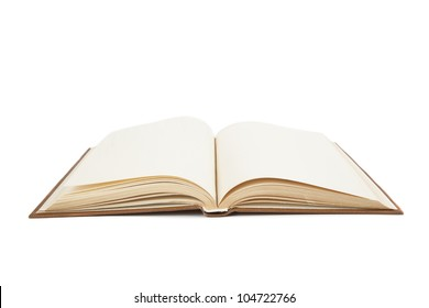 open an old book on white book
