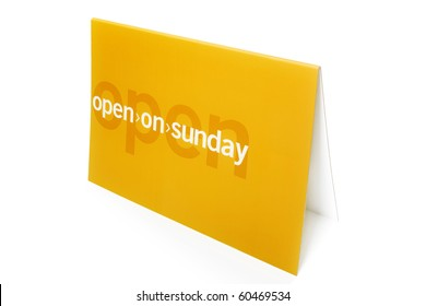 Open on sunday - Advertisement for a store