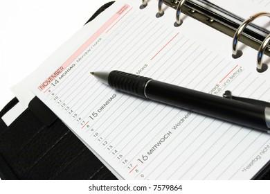 Open Organizer with Pen