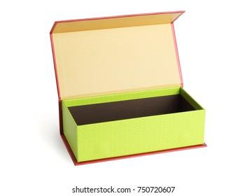 Open Oriental Gift Box on White Background