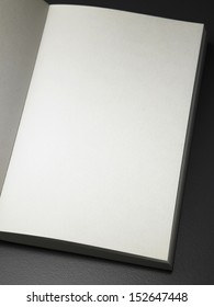 open page of book with blank page