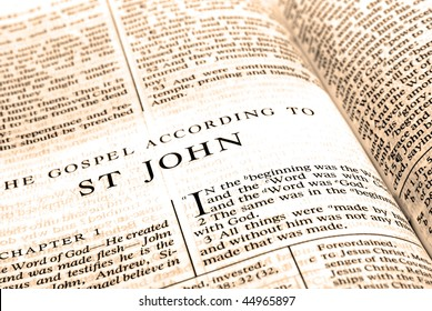 Open pages of bible isolated on white background