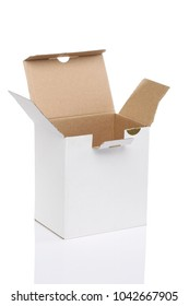 open paper box on white background, isolate