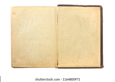 Open paper page book on white backgrounds