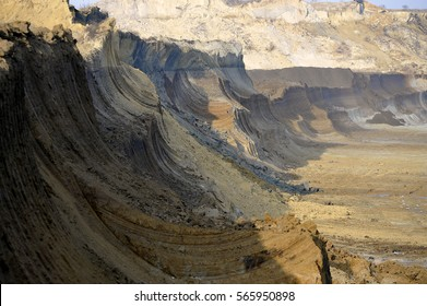 Open pit for background.