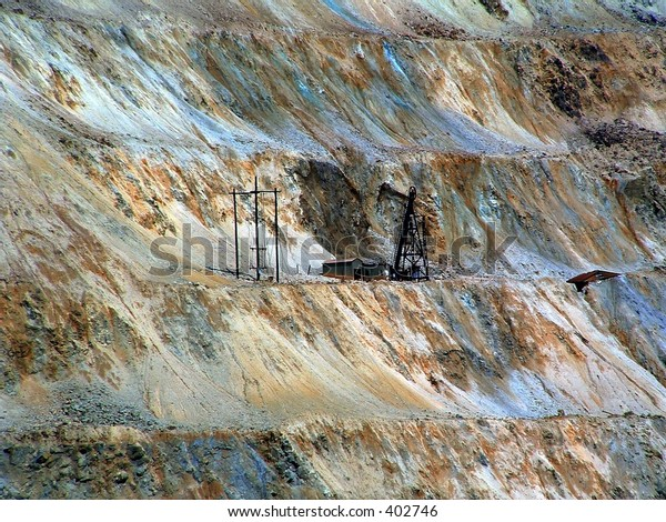 Open pit copper mine Butte Montana