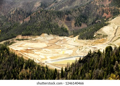 An open pit gold mine that also produces copper, silver, and molybdimum