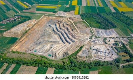 Open pit mine - aerial view