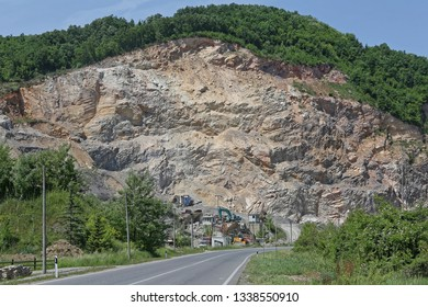 Open Pit Quarry Construction Aggregate Material Mine