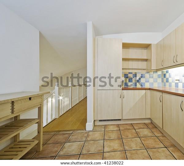 Open Plan Kitchen Split Level Living Stock Photo Edit Now 41238022