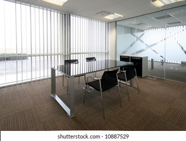 Side View Open Office Interior Wooden Stock Illustration 457745785 ...
