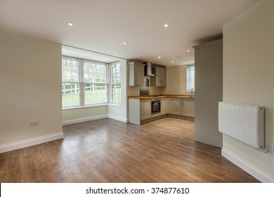 Open Plan reception room within new home
