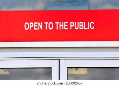 Open to the public sign