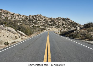Open road in Anza-Borrego Desert, Southern California.