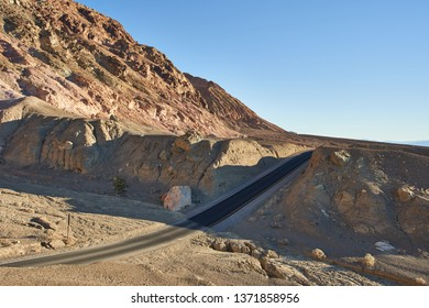 Open road in Death Valley, California.