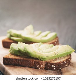 open sandwiches with avocado and spices