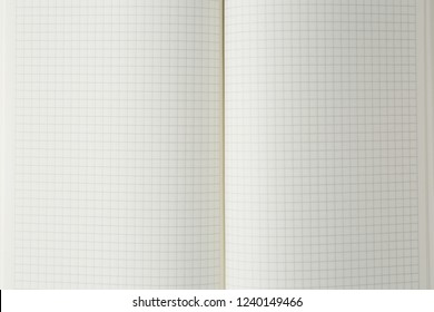 open school notebook on the table top view, notepad with blank page. flat lay of office concept