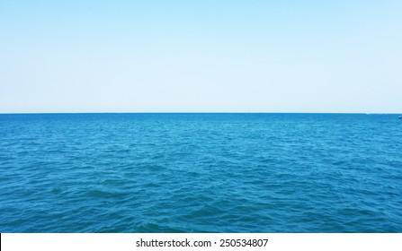 open sea and blue sky