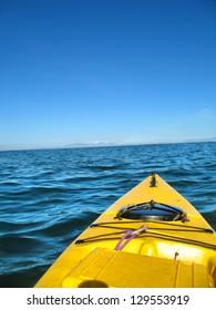 Open sea kayak. Shot in South Africa.