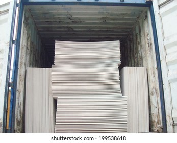 Open Shipping Container with Cargo Inside