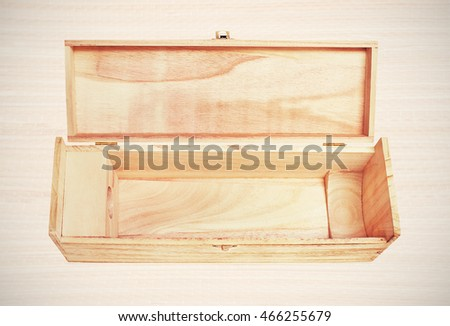 Open Single Wooden Wine Box Instagramlike Stock Photo Edit Now