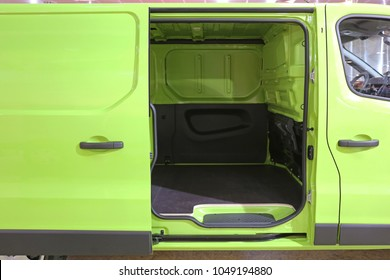 Open Sliding Door at Green Van Side