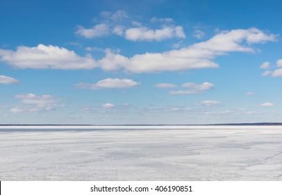 Open space. Lake Pleshcheevo at Pereslavl-Zalessky, Yaroslavl region, Russia
