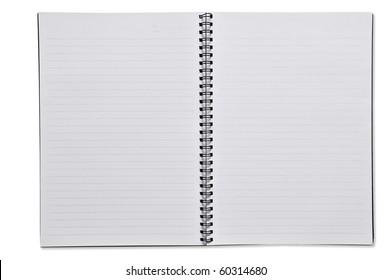 Open Spiral Notebook blank paper