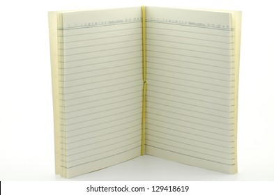 open stand notebook isolated on white background