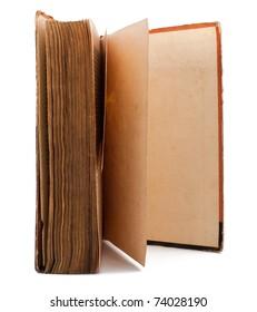Open standing vintage book