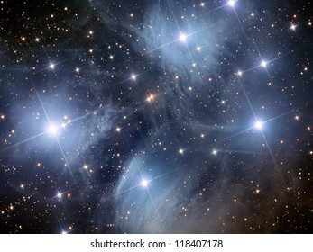open star cluster in the constellation of Taurus