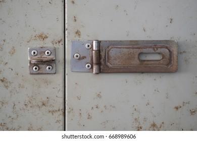 Open steel door
