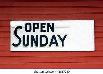 Open Sunday Sign