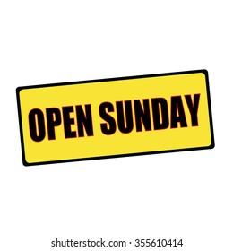 open Sunday wording on rectangular signs