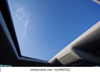 open sunroof look up to sky