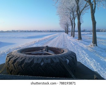 Open Top Land Rover in Winter