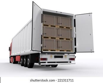 open trailer