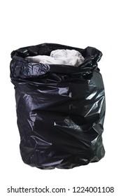 Open trash bag