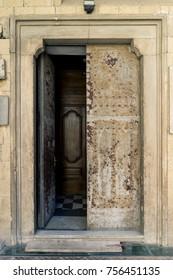Open vintage door