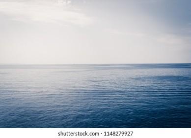Open water ocean calm sea at dawn matte effect